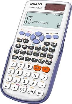 OSALO Scientific Calculator 417 Function 2 Line 10+2 Digits Written Display Solar Scientific Calculator (OS 991ES Plus)
