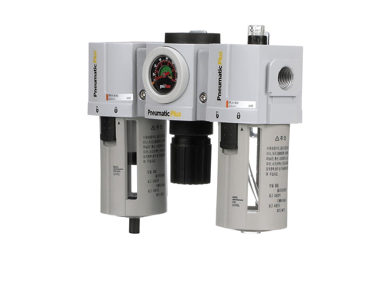 "PneumaticPlus Compressed Air Filter Regulator Lubricator 1//2/"" NPT PPC4-N04G-Q"