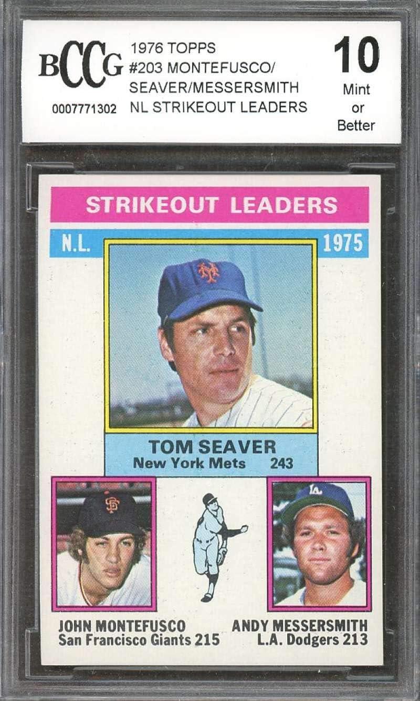 1976 Topps #203 Tom Seaver John Montefusco Andy Messersmith New York Mets RC