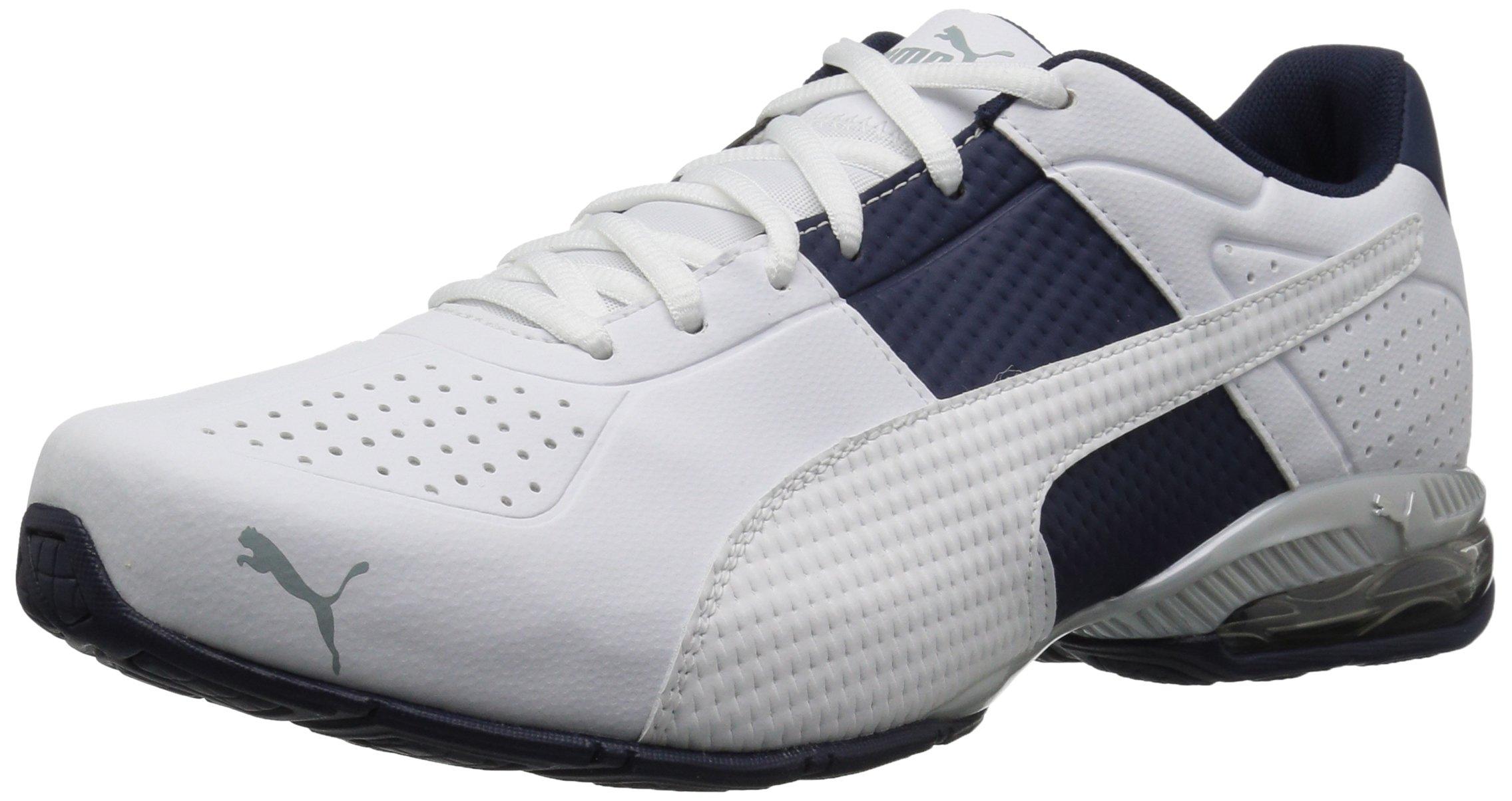 PUMA Men's Cell Surin 2 3D Sneaker, White-Peacoat-Quarry, 10.5 M US