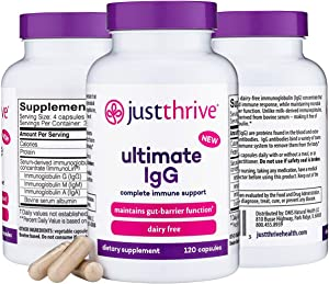 Just Thrive - IgG Complete (30-Day Supply) - Made for Immune System and Gastrointestinal Health - Support The Body's Natural Immunoglobulins - Dairy, Gluten, Soy Free - Non-GMO