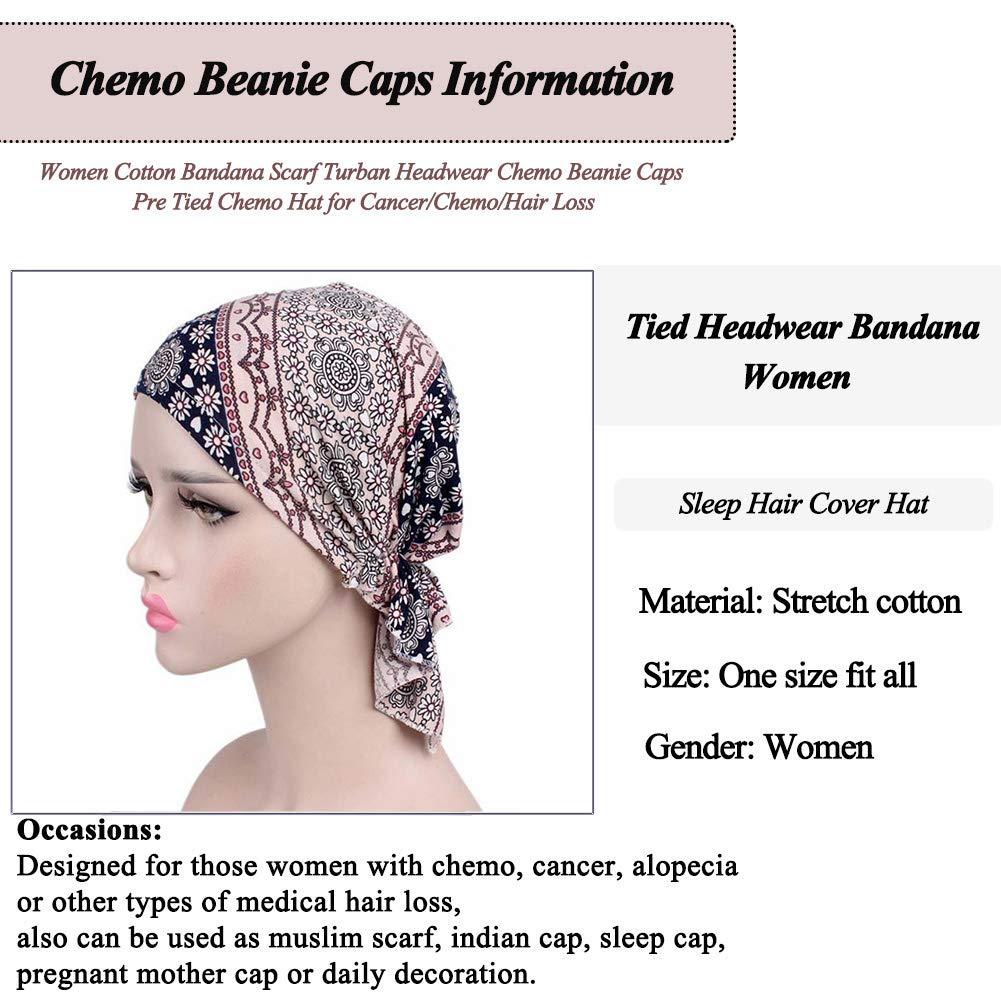 Chic Women Indian Flower Stretch Hat Turban Scarf Cap Hair Loss Head Wrap AU