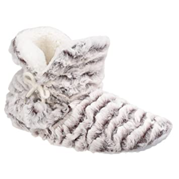Divaz Womens/Ladies Paris Pull On Faux Fur Warm Lined Slipper Boots: Amazon.es: Zapatos y complementos