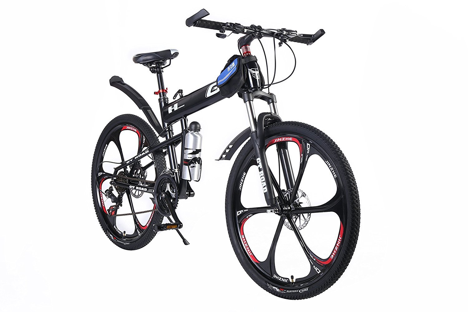 OPATER MTB Mountain Bike 26″ 24 Speed Sturdy Carbon Steel Frame Bike For Men and Women (Black) by OPATER (Image #1)