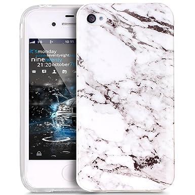 Kompatibel mit iPhone 4S/4 Hülle,iPhone 4S Schutzhülle,Glänzen Marmor Muster Weich TPU Silikon Hülle Handyhülle Etui Protecti