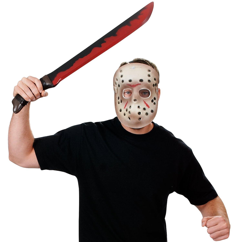 Set máscara y machete Jason Viernes 13 Hallloween: Amazon.es: Juguetes y juegos