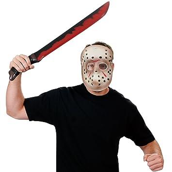 Set máscara y machete Jason Viernes 13 Hallloween