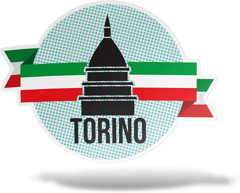 erreinge Sticker Piemonte Italia Adesivo Sagomato in PVC per Decalcomania Parete Murale Auto Moto Casco Camper Laptop cm 10