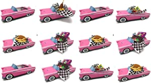 12 Classic Car Party Food Boxes - Pink Birthday Set