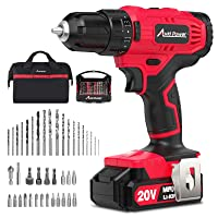 Avid Power 20V Cordless Drill, Lithium-ion Battery Power Drill/Driver with 41pcs Drill Bit Set, Variable Speed, 3/8'' Keyless Chuck,16 Position Drill Kit