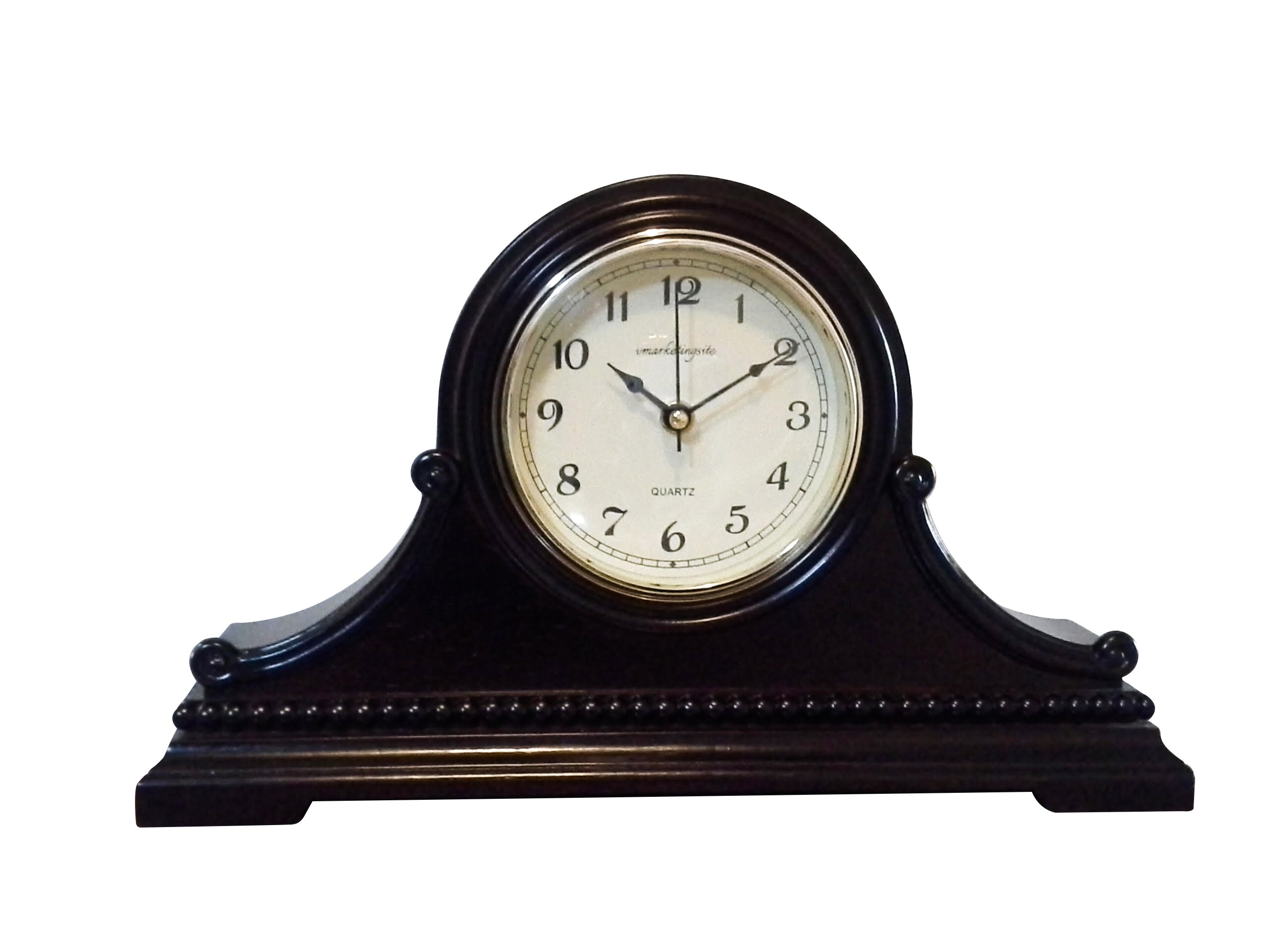 Vmarketingsite Decorative Mantel Clock with Westminster Chime, 9'' x 16'' x 3'', Walnut