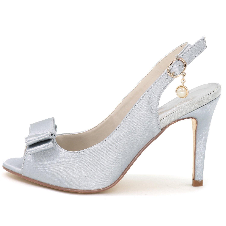 Elobaby Elobaby Elobaby Frauen Hochzeit Schuhe Schnalle Brautjungfer Prom Abend High Heels Chunky Fashion Herbst Plattform (9 cm Absatz) 410595