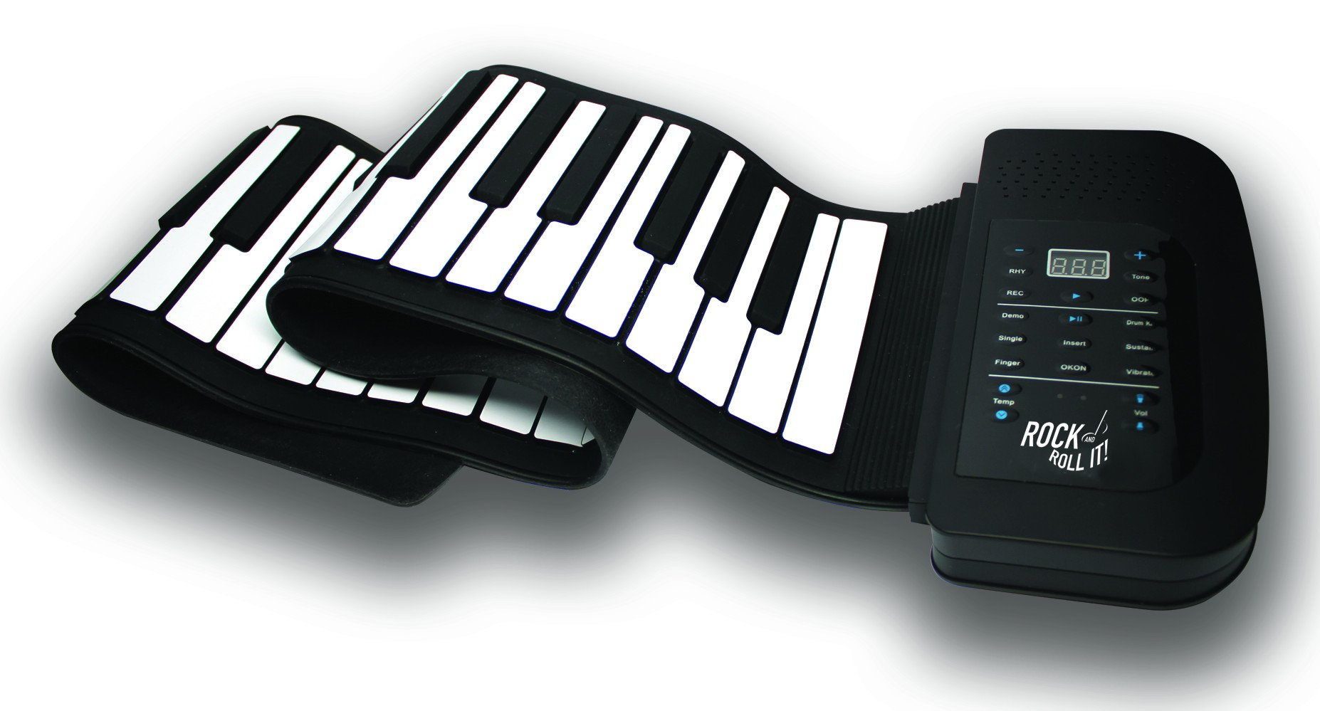 Rock And Roll It - Studio Piano. Flexible, Completely Portable, 61 Standard Size Keys, Rechargeable Battery + USB Powered, AND Midi Compatible