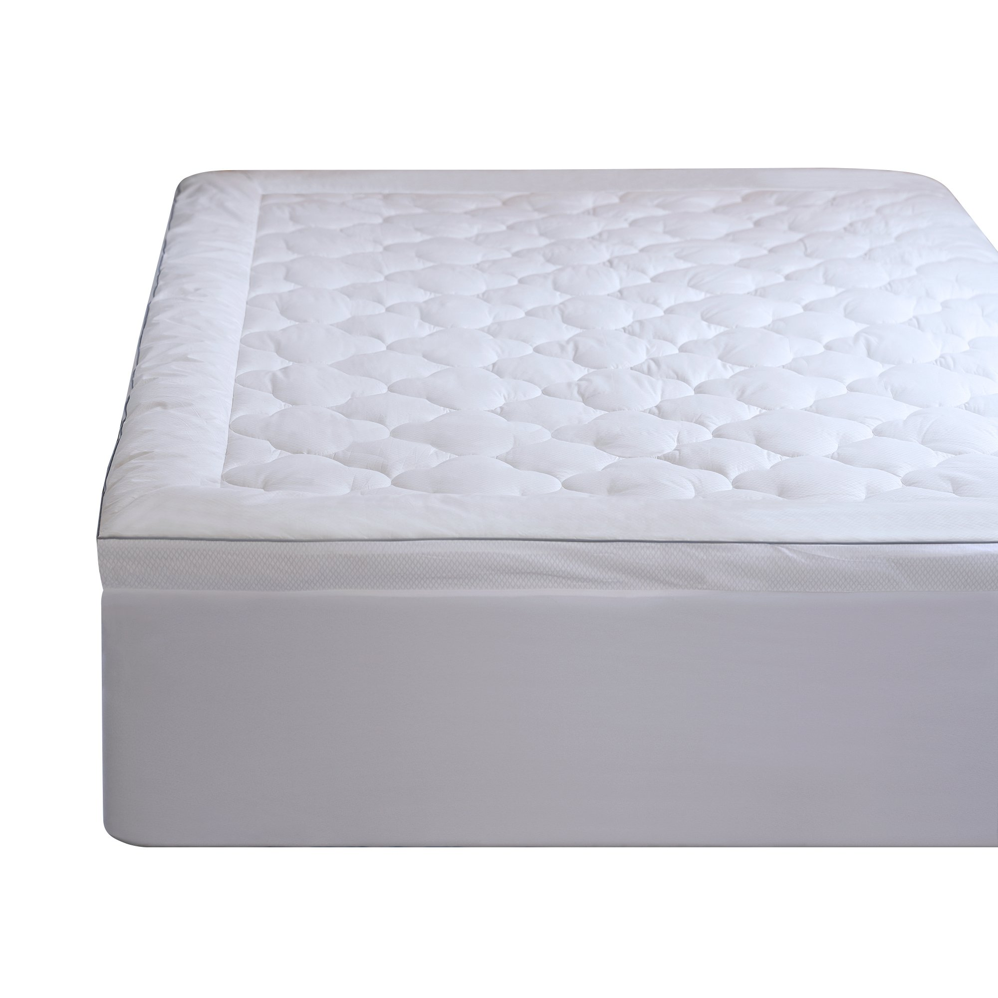 Allied Essentials Serenity Cool Sleep Mattress Pad, Queen, White