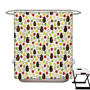 Amazon.com: Cortina de ducha con diseño de erizo de otoño ...
