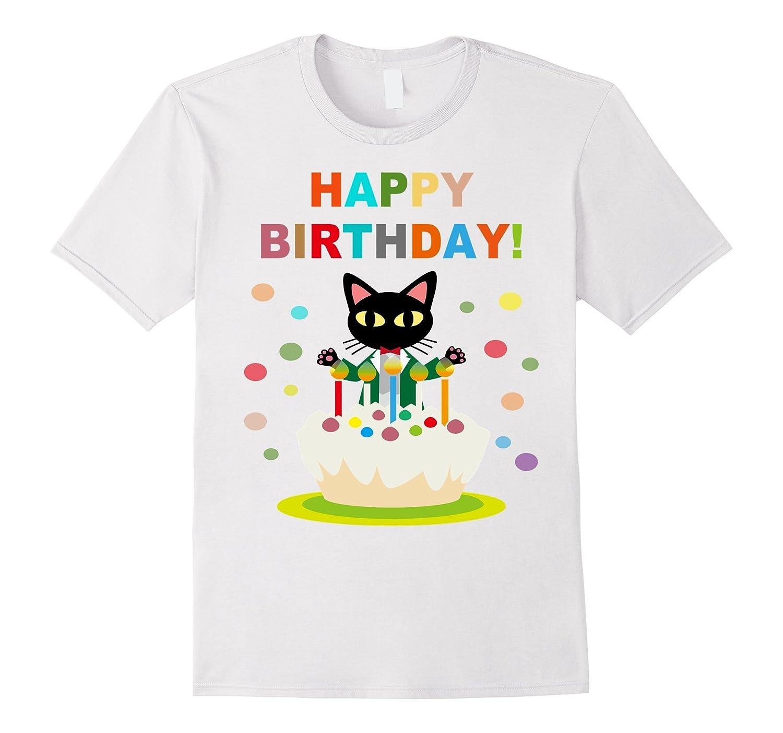 Funny Happy Birthday T Shirt Cat Boy Girl Teen Toddler Gift RT