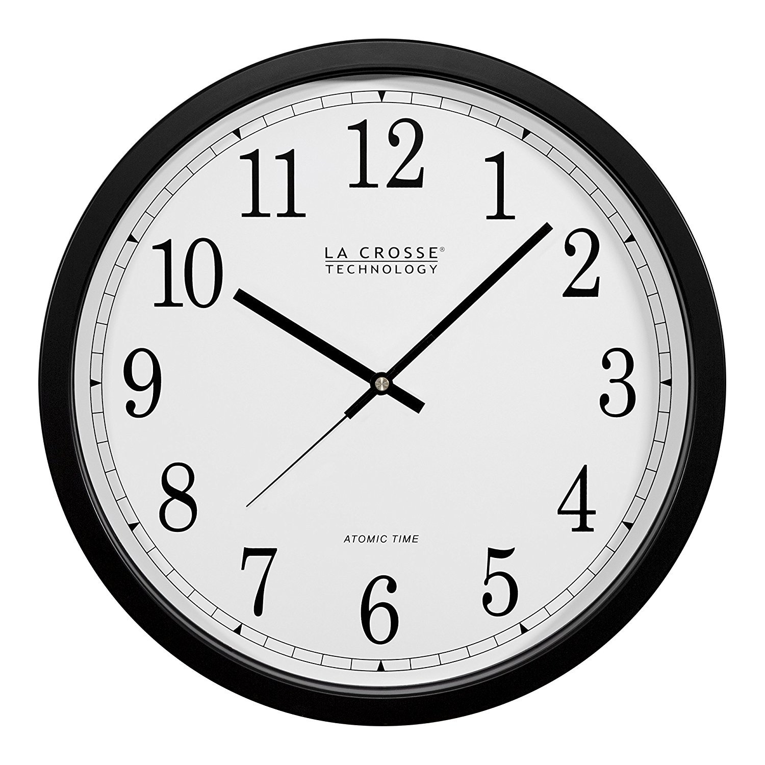 La Crosse Technology WT-3143A-INT 14-Inch Atomic Wall Clock, Black (2-Pack)