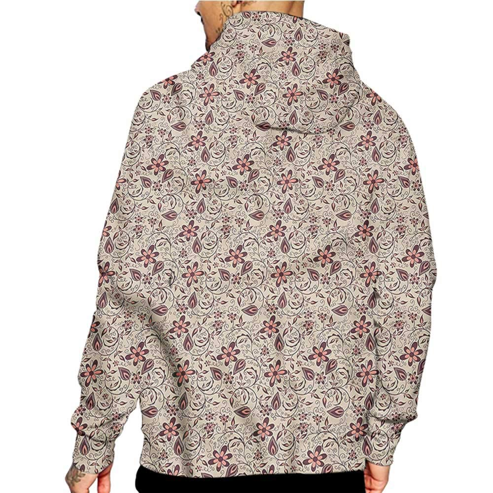 Hoodies Sweatshirt/ Men 3D Print Flower,Floral Patterns Country,Sweatshirts for Teen Girls