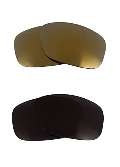 52a8413615a78 Best SEEK Replacement Lenses Oakley SCALPEL - Polarized Black Gold   Amazon.co.uk  Clothing