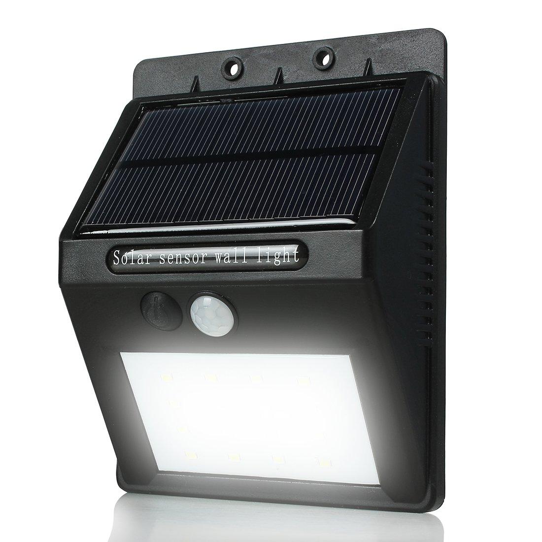 uxcell Outdoor Motion Sensor Solar Lights, 16 LED Waterproof Wireless Pir Solar Power Spotlight, Yard Deck Bright Security Night Lights
