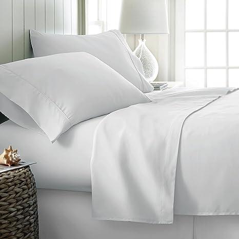 1 BONUS PILLOWCASE 500 Thread Count 100/% Cotton Sheet Ivory Twin XL Sheet Set,3-Piece Long-staple Combed Sheets,Breathable,Soft /& Silky Sateen Weave Fits Mattress Upto 18 Deep Pocket