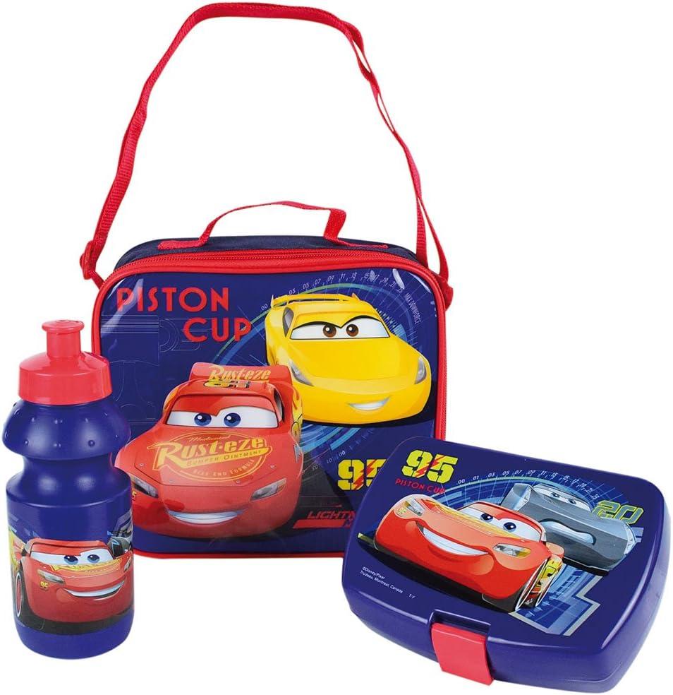 Fun House 005475 CARS Sac Go/ûter comprenant une gourde et une bo/îte go/ûter