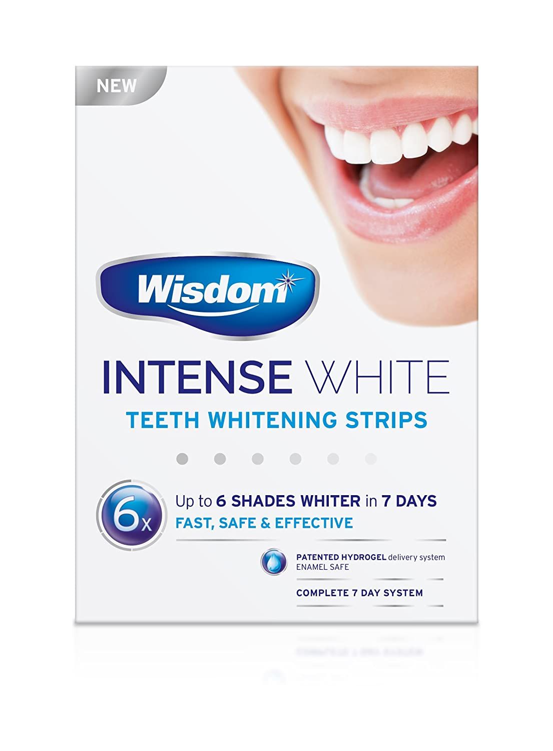 7dc859886d6 Wisdom Intense White - Teeth Whitening Strips (6 Shades Whiter in 7 Days)   Amazon.co.uk  Health   Personal Care