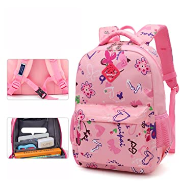 0a7f9cee1892 UrChoiceLtd® School Bag Backpack for Girls Boy Kids Backpack Waterproof Primary  School Students 1-