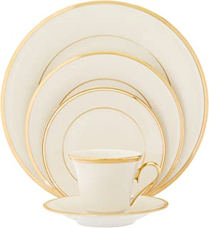 Lenox Eternal Gold-Banded Fine China 5-Piece Place Setting Service for 1  sc 1 st  Amazon.com & Amazon.com | Lenox Autumn Gold-Banded Fine China 5-Piece Place ...