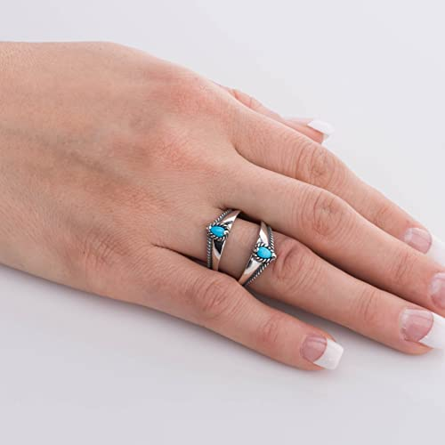 Carolyn Pollack Sterling Silver Multi Gemstone Choice of 3 Colors Guard Ring Size 5 to 10