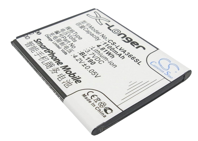 ビントロンズ交換バッテリーfor Lenovo bl190 B00XJWJYV2