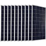 ECO-WORTHY 1KW 10pcs 100 Watts 12 Volts Solar Panel Module for Home Solar System