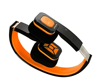 Arion - Cascos plegables sin cables (bluetooth), color amarillo y negro Orange/