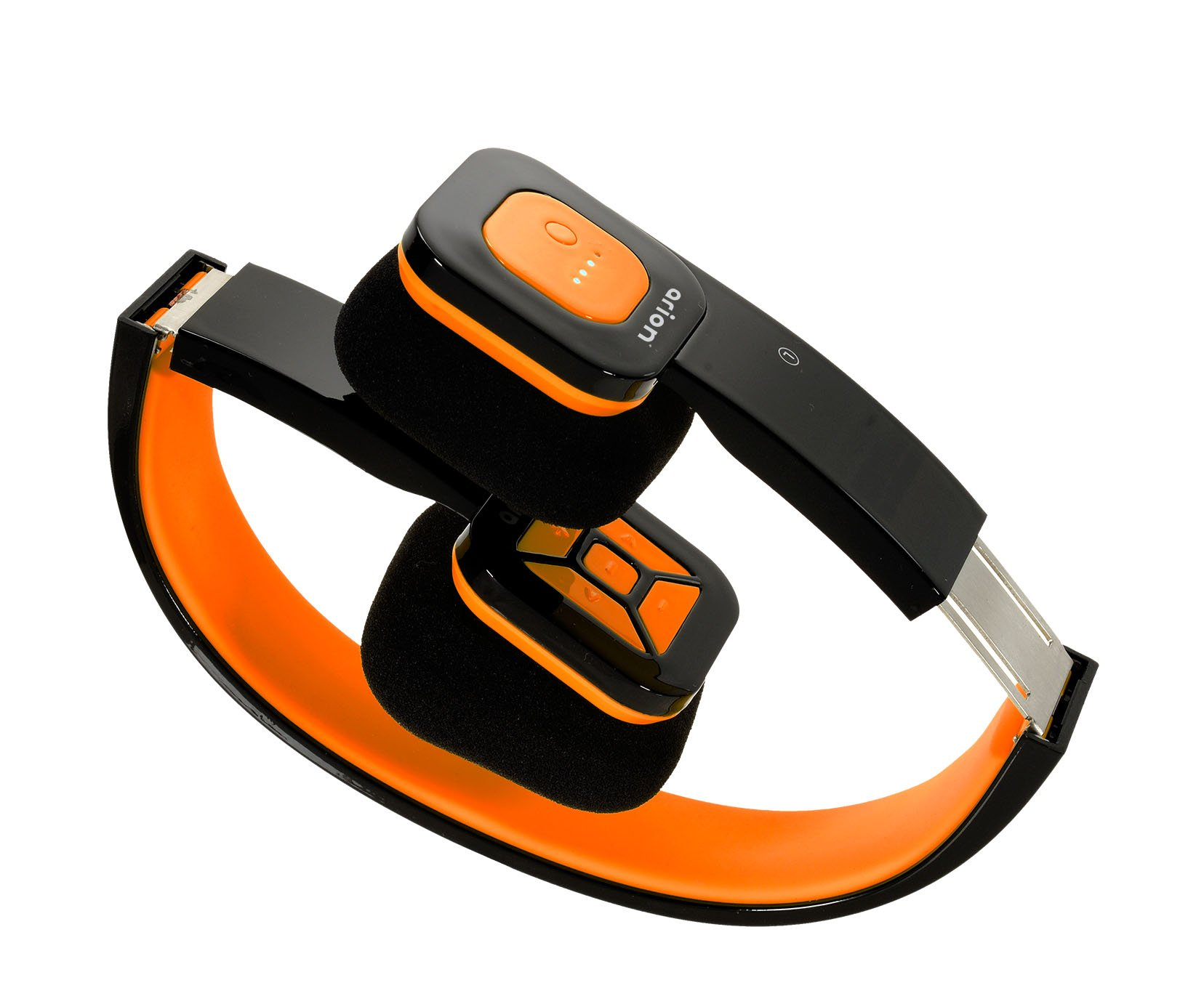 Eagle Tech Arion ARHP200BF Foldable Bluetooth Headphone with Wireless Music Streaming and Hands-Free Calling , Includes Hard Travel Case  - Black/Orange