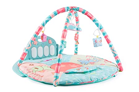 NBD Corp Piano Baby Playmat Kick and Play Piano Gym, Adorable Baby Piano Gym with Soft Pastel Colors for Boys and Girls.