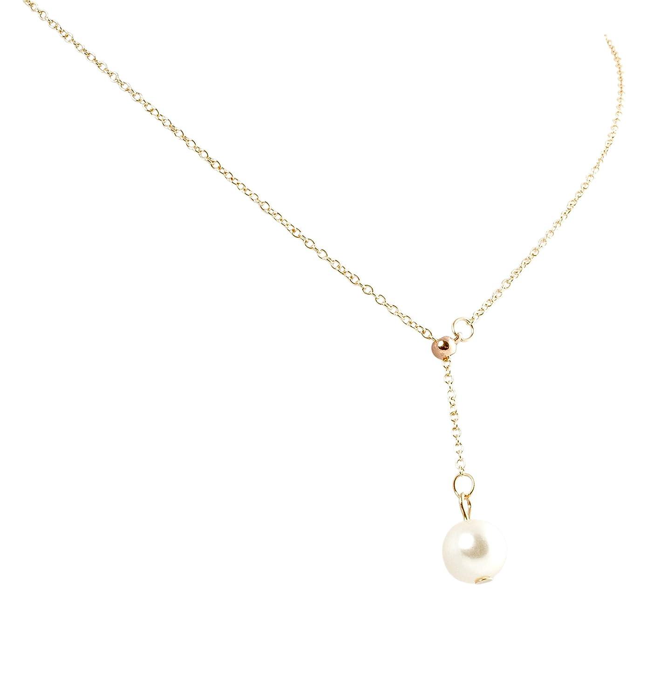 30760ec486af Mujer Collar de perlas colgante oro perla doble cadena cadena collar  vintage geralin Gioielli  Amazon.es  Joyería