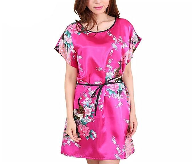 Refuelr Robe Women Sleepwear Albornoz Batas de Dama de Honor Kimono Pijamas Vestidos de Seda Womens