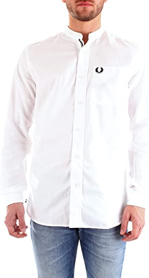 Fred Perry M7559 Camisa para hombre Bianco M: Amazon.es ...