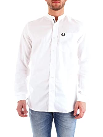 Fred Perry Mens Grandad Collar Shirt: Amazon.es: Ropa y accesorios