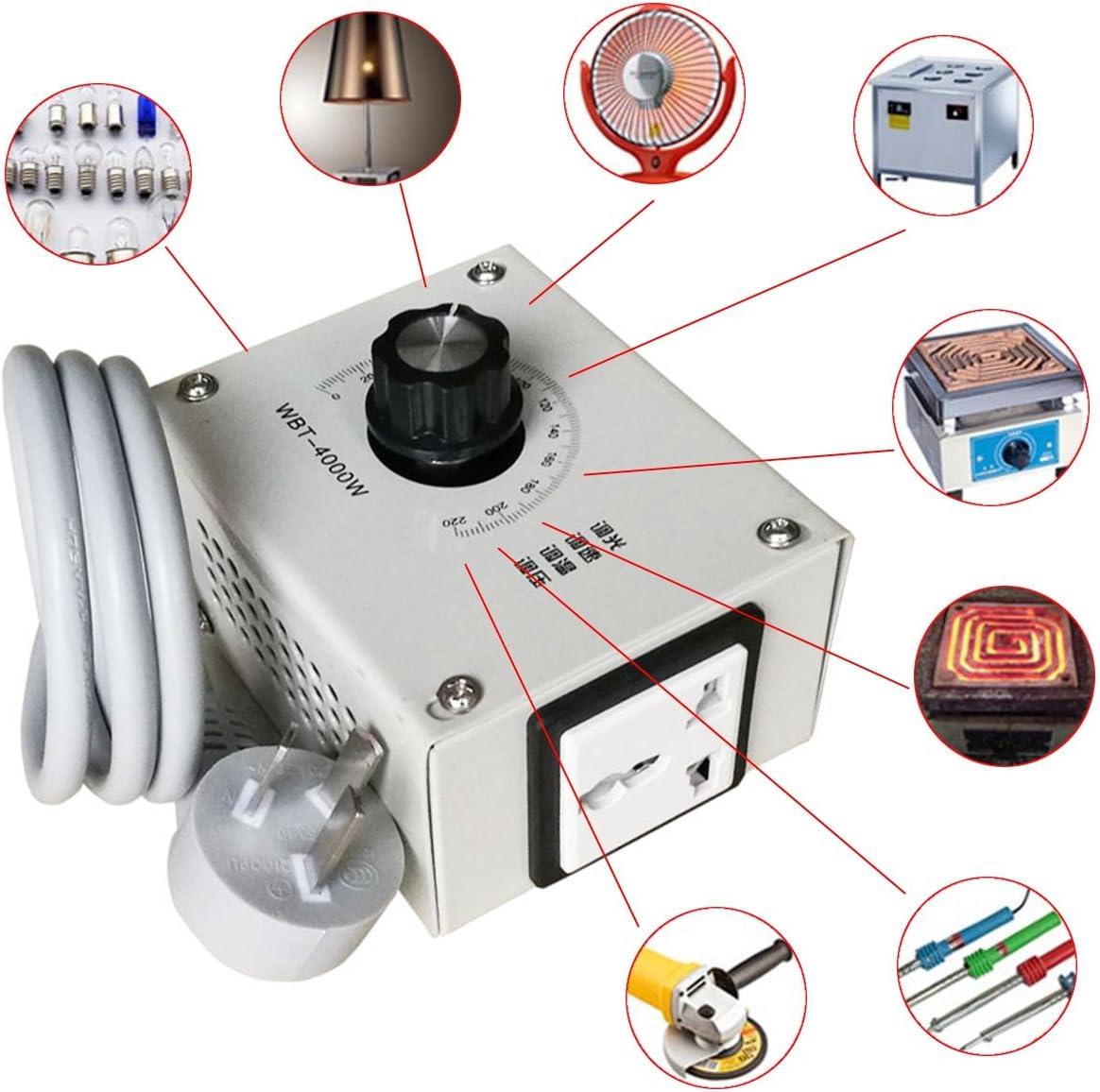 MASUNN 4000W AC 220V Controlador De Voltaje Variable para El Ventilador De Velocidad del Motor Atenuador De Temperatura