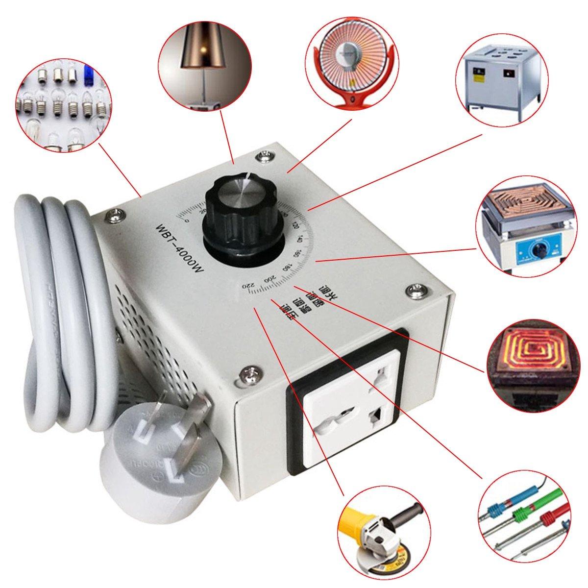 MASUNN 4000W Ac 220V Variabler Spannungsregler Fü r Lü fter Drehzahl Motor Temperatur Dimmer
