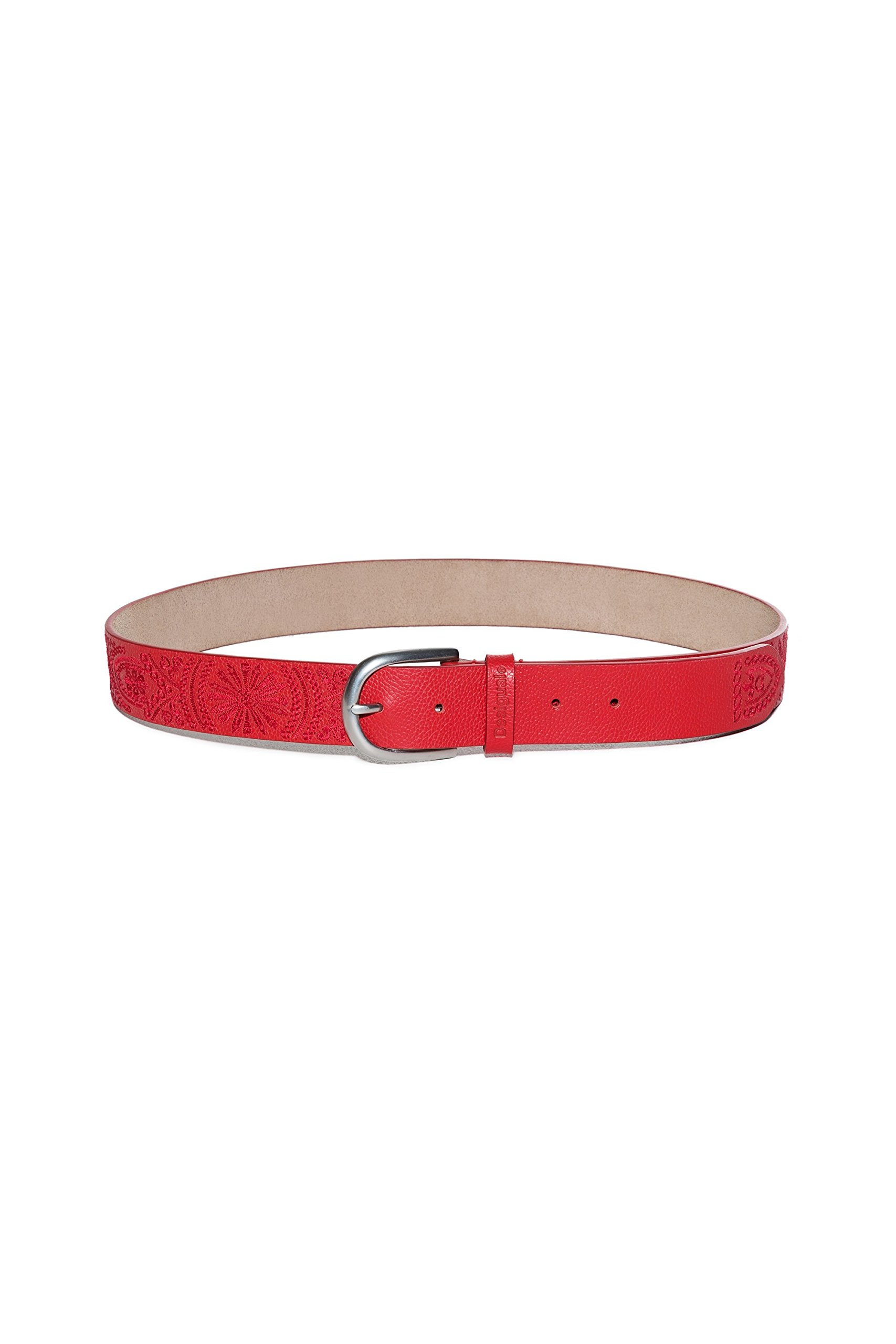 Desigual Women's 18Sarl02red Red Leather Belt