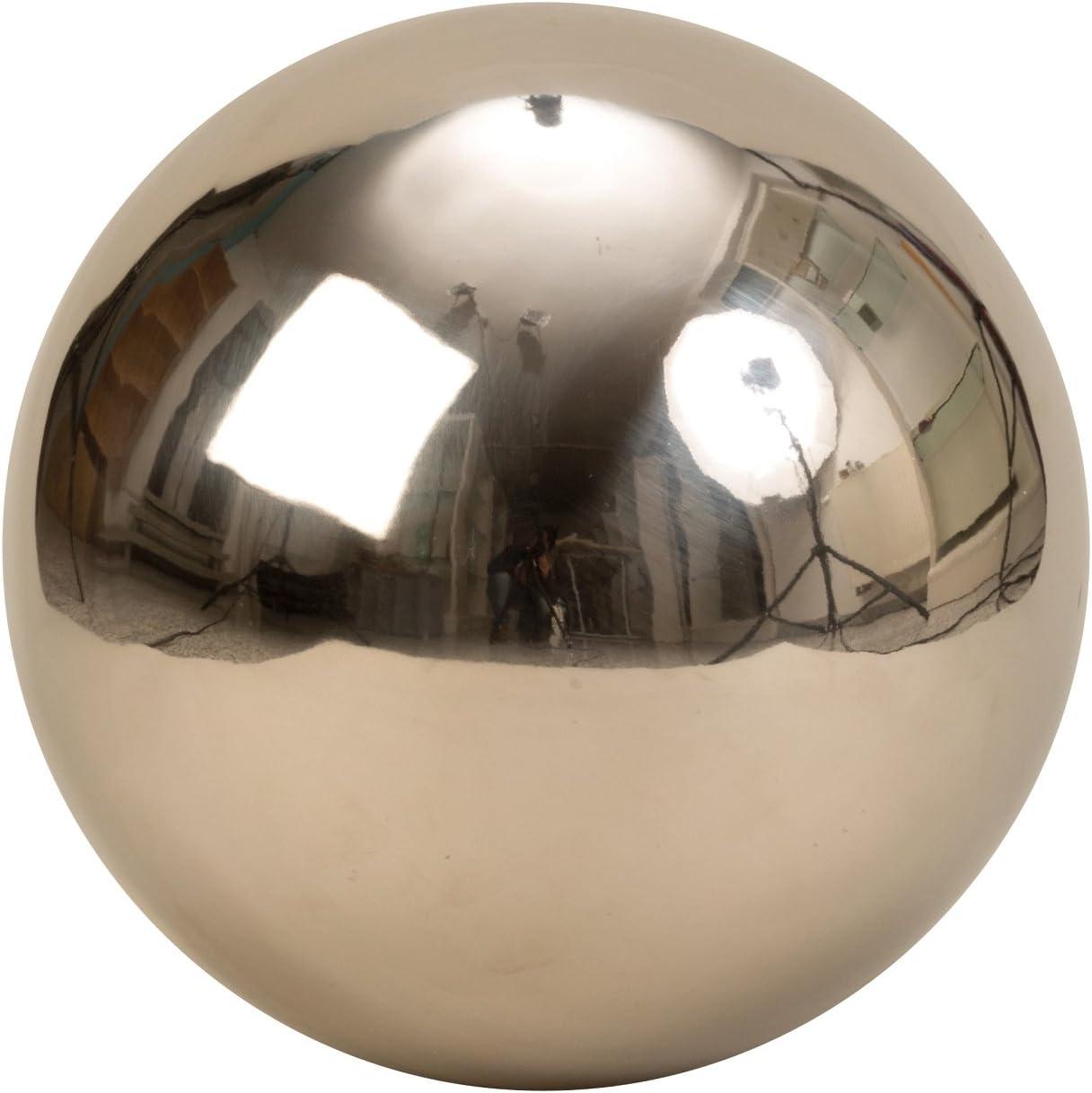 Moderna decoraci/ón bola decorativa Jard/ín Jard/ín bola de acero inoxidable en plata mate 20 cm de di/ámetro
