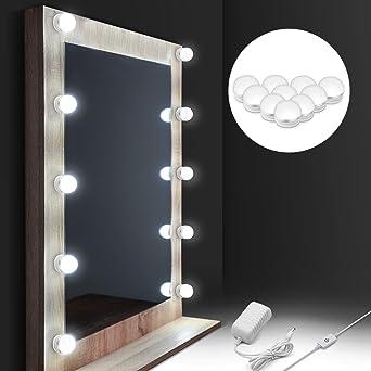 LED Spiegelleuchte, Auledio Schminktisch Beleuchtung 10 dimmbare ...