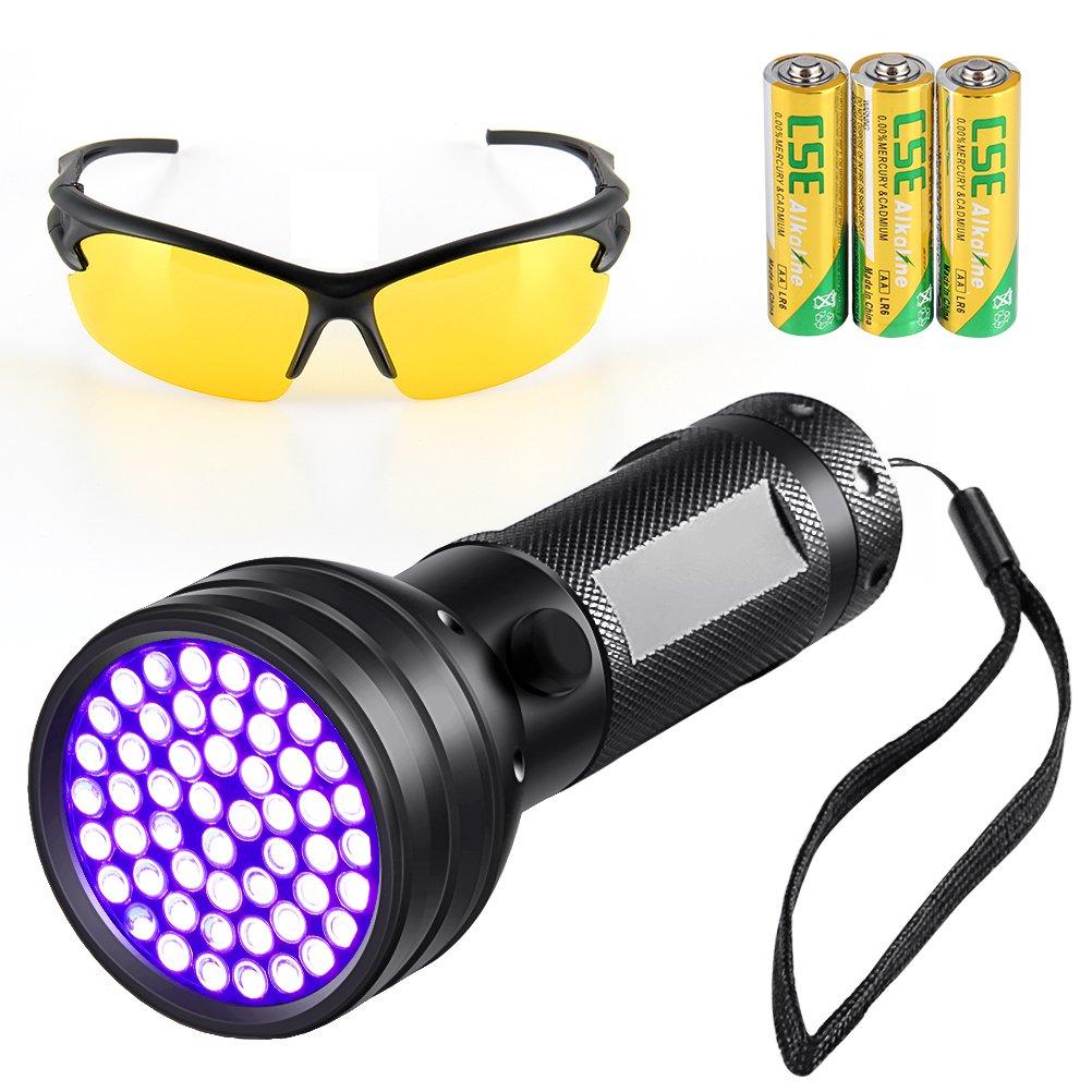 UV Flashlight,51 LED Ultraviolet Light,Black Light Flashlight,Detector for Dog/Cat Urine,Pet Stains,Bed Bug,Scorpion Hunting