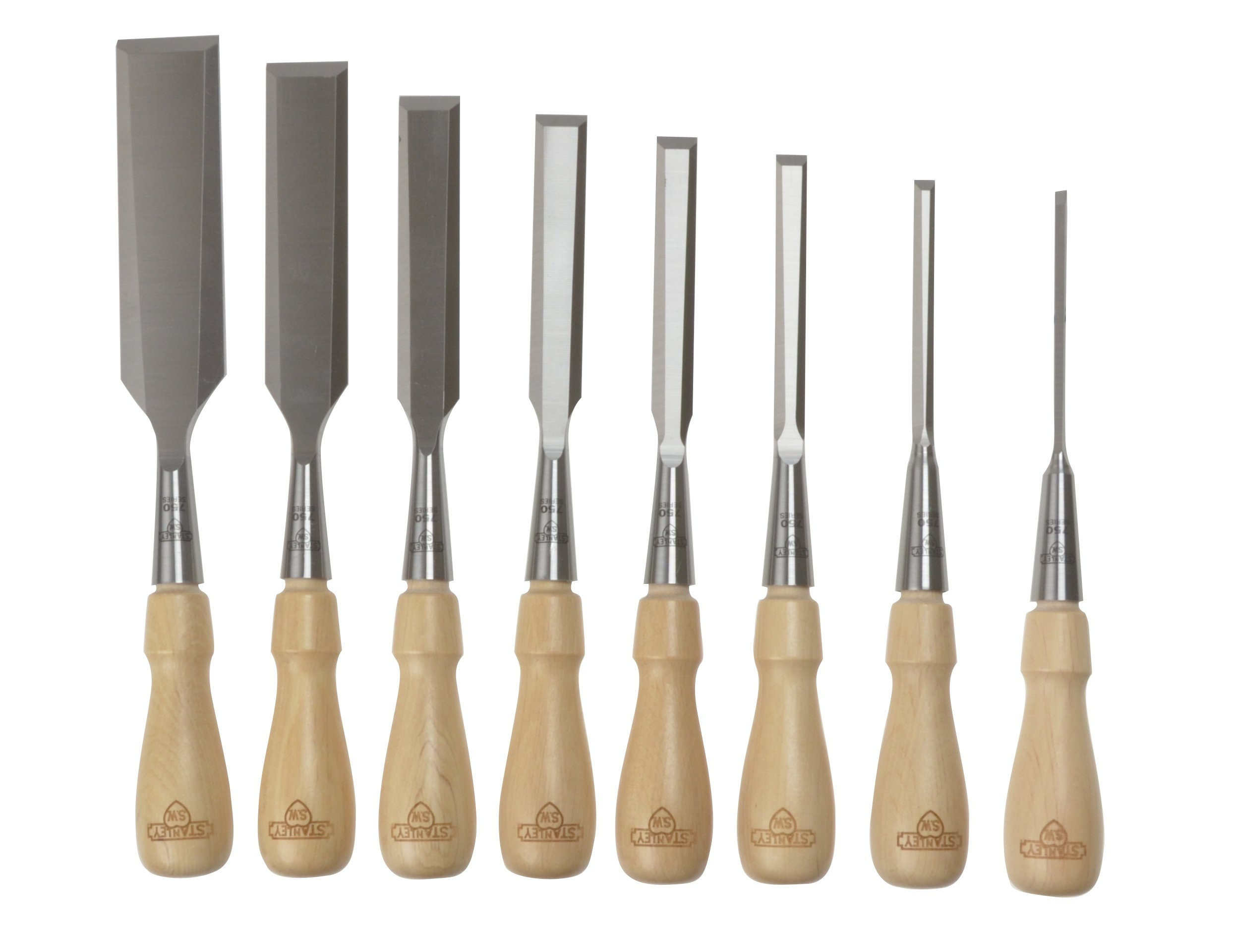 Stanley 1-16-793 Chisel-Set Sweetheart (8-piece), Silver/Tan Brown