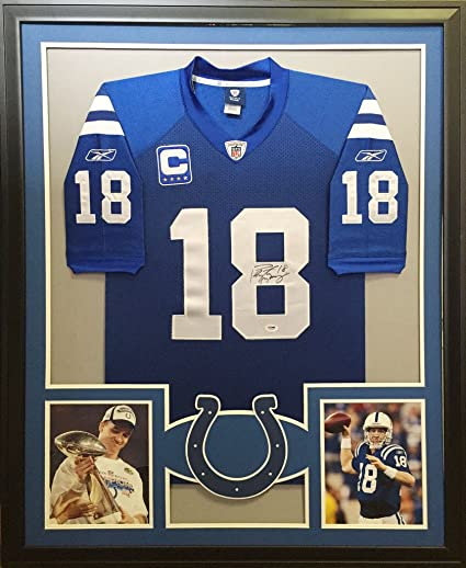 Peyton Manning Framed Jersey Signed PSA/DNA Autographed Indianapolis ...