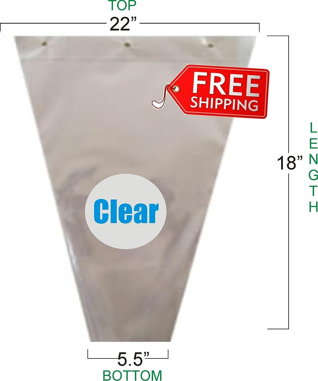 Flower Bouquet Unprinted 37 Micron Clear Cellophane Bags Plastic Sleeve Bag 50 Pcs 22x18x5.5 GreenhouseGrowerStore.com