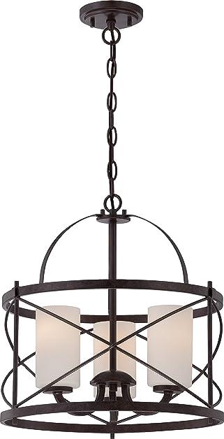 Amazon nuvo lighting 605337 three light pendant kitchen nuvo lighting 605337 three light pendant mozeypictures Choice Image