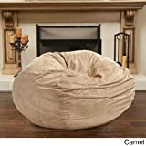 Christopher Knight 5-foot Faux Suede Bean Bag Chair, Camel